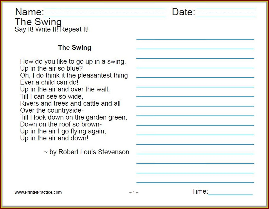 5th Grade Cursive Writing Worksheets Pdf