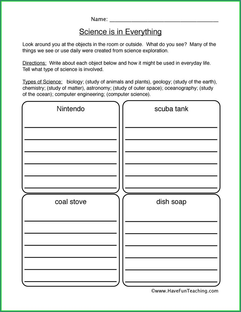 5th Grade Printable Scientific Method Worksheet