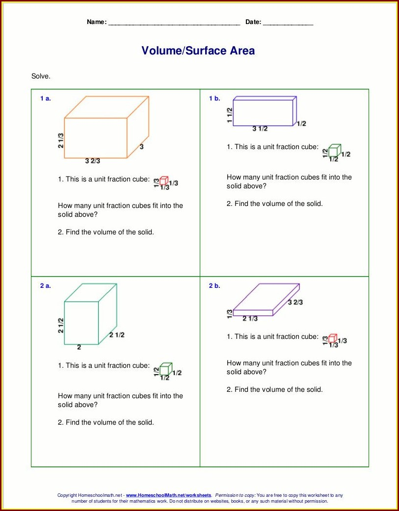 5th Grade Volume Worksheets For Grade 5