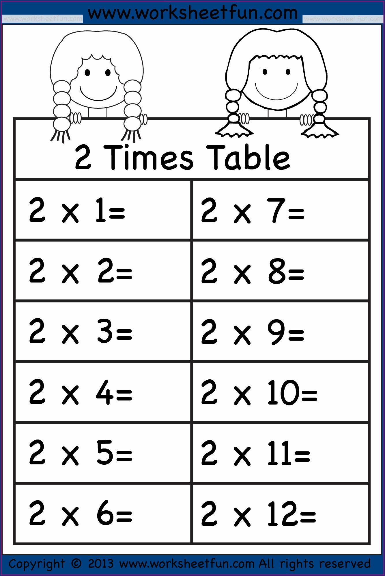 6 7 8 Times Tables Worksheets