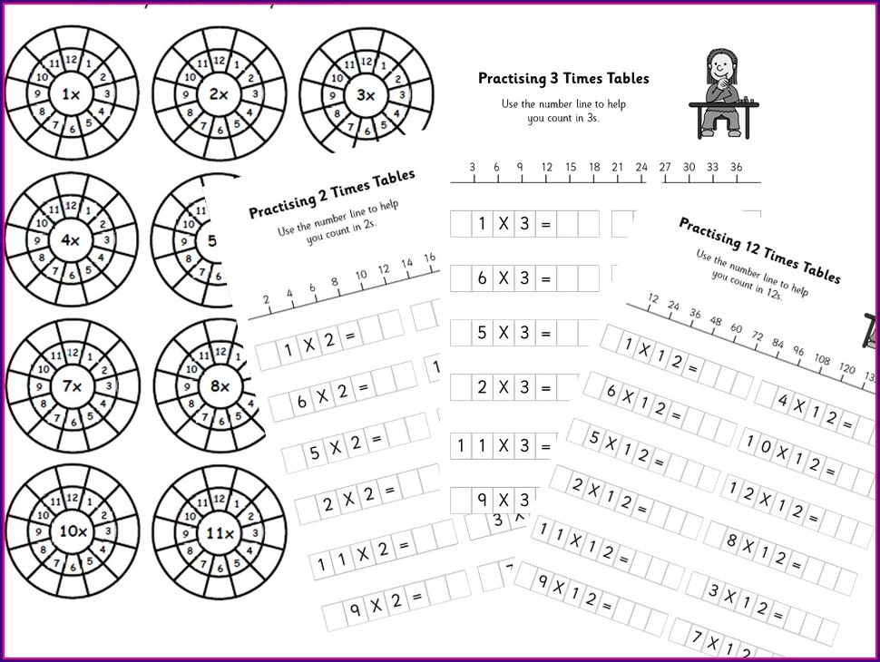 6 Times Table Worksheets Ks2