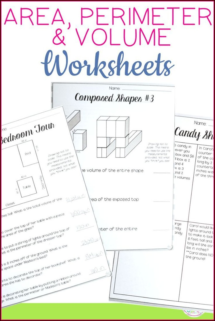 6th Grade Volume Word Problems Worksheet