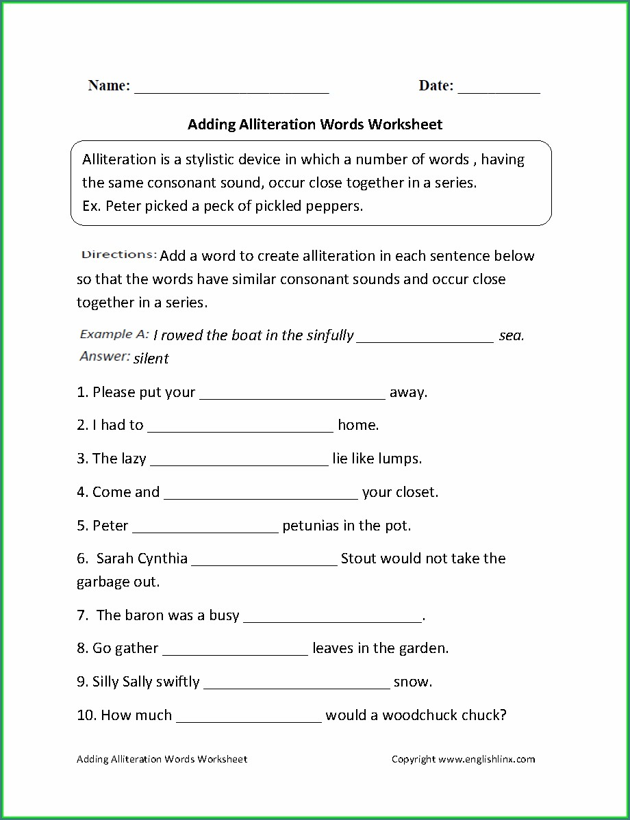 7th Grade Transition Words Worksheet With Answers