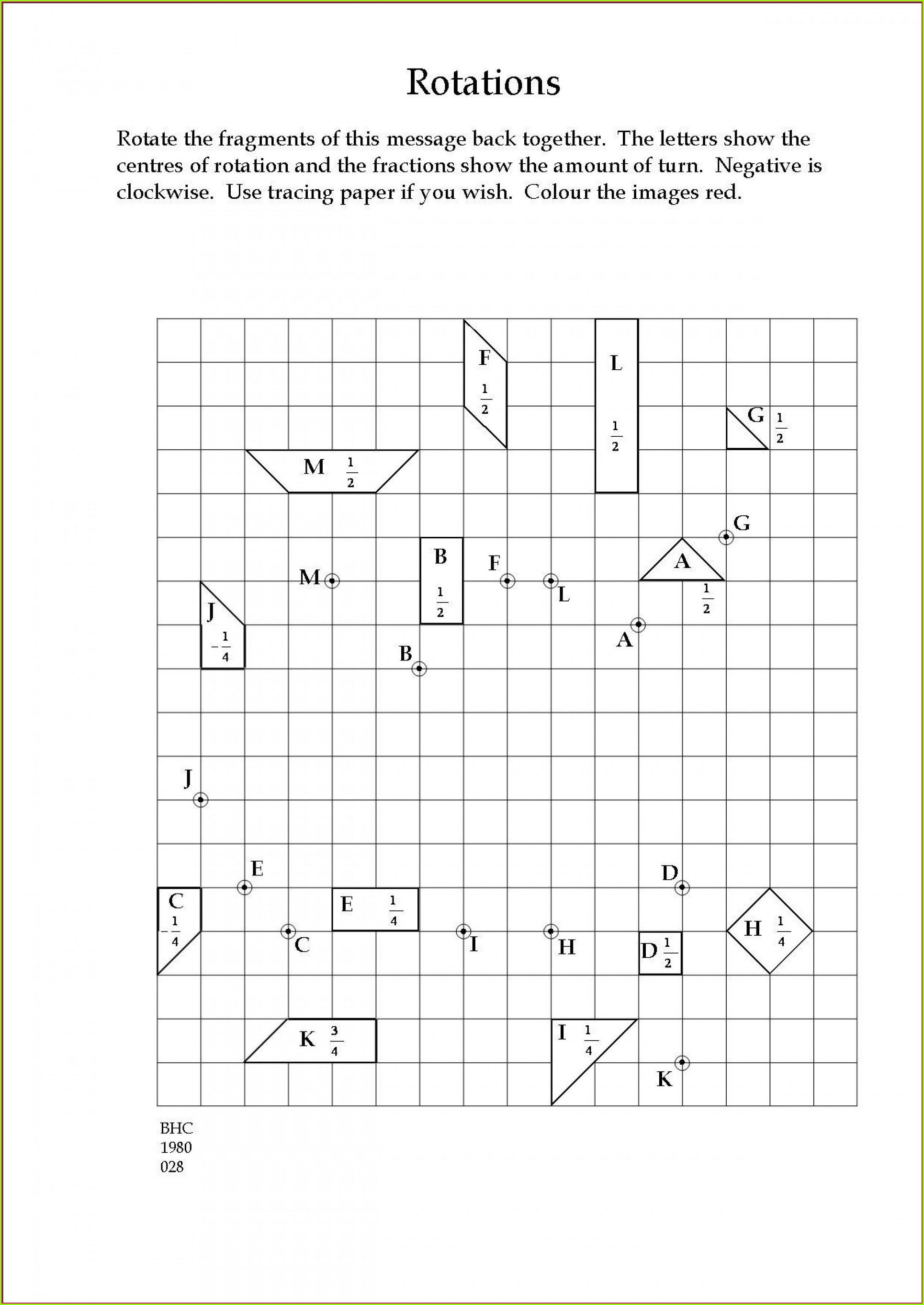 8th Grade Math Transformations Worksheets
