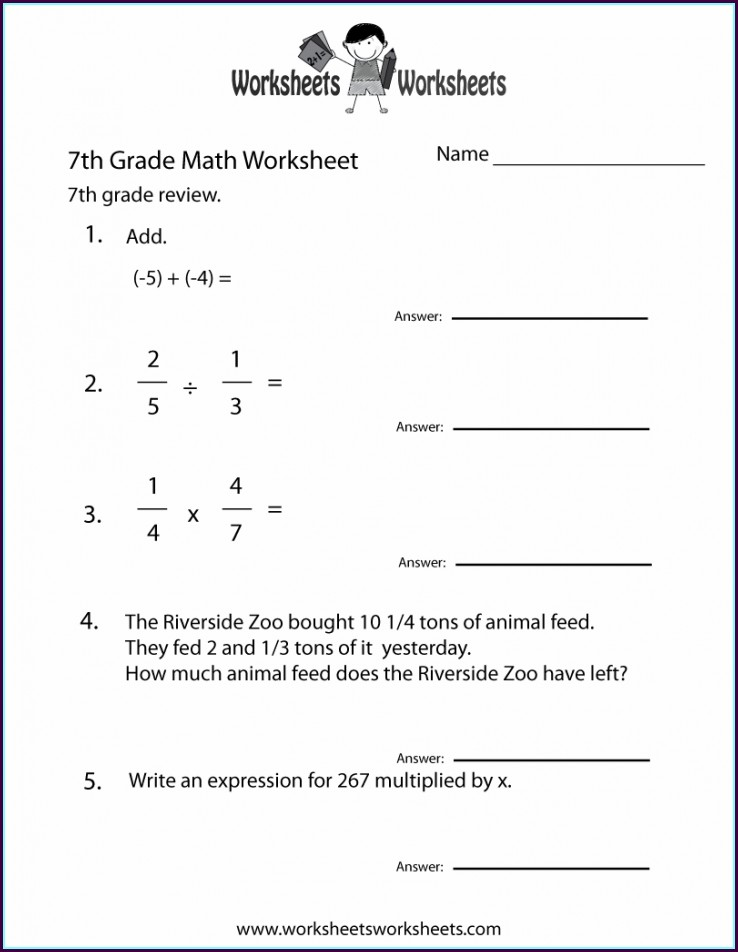 8th Grade Math Worksheets Pdf