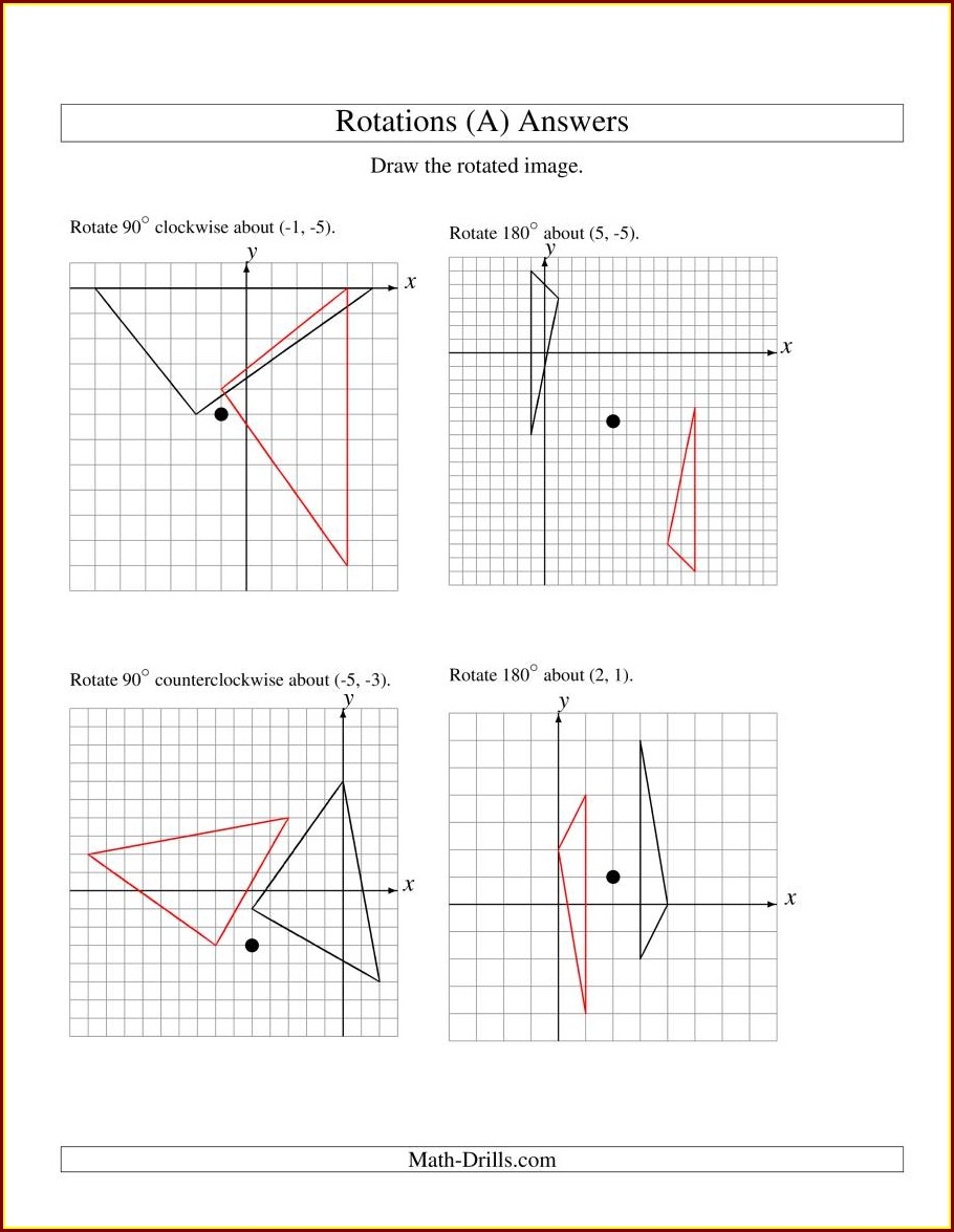 8th Grade Mixed Transformations Worksheet