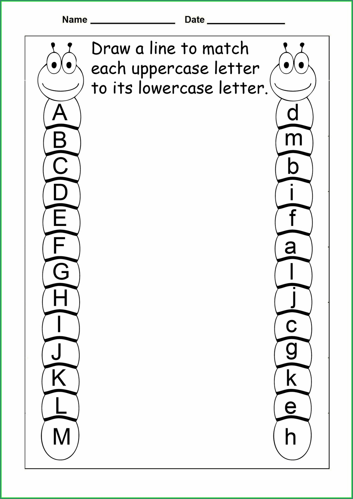 Abc Printable Worksheets For Pre K