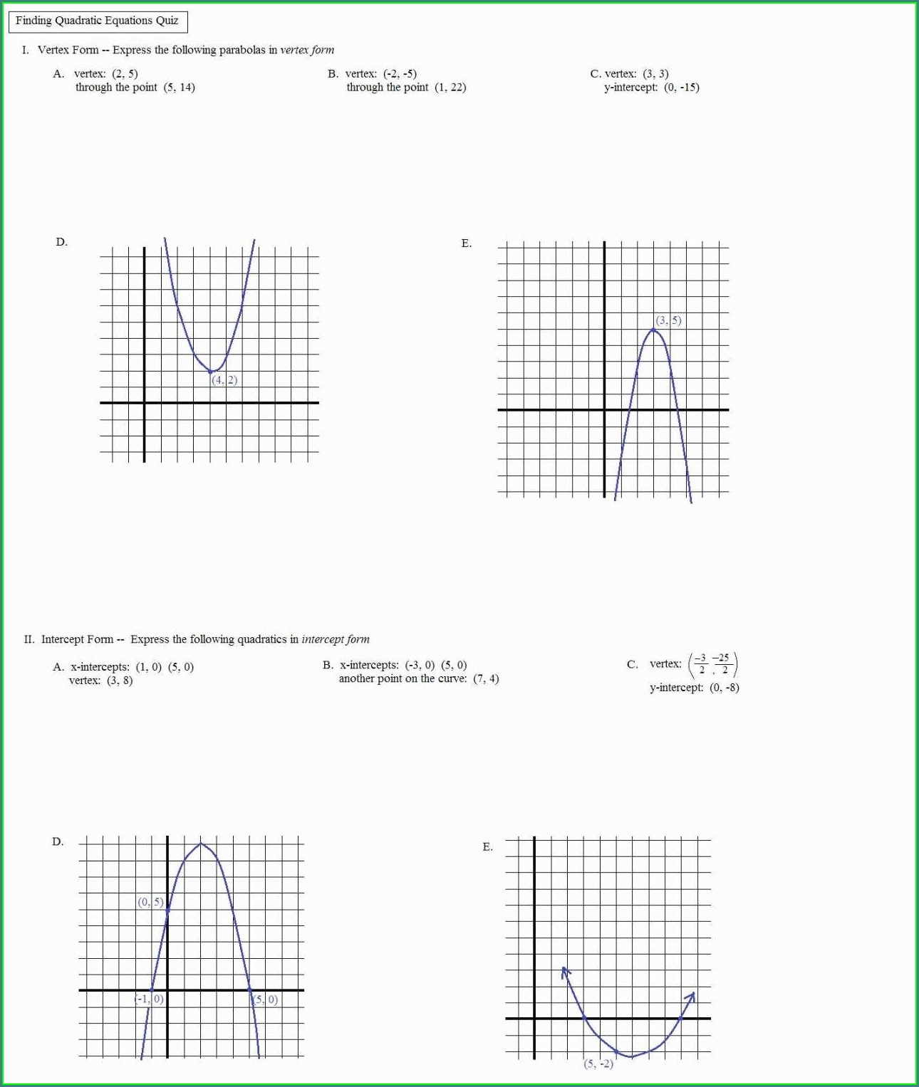 Algebra 1 Coin Word Problems Worksheet