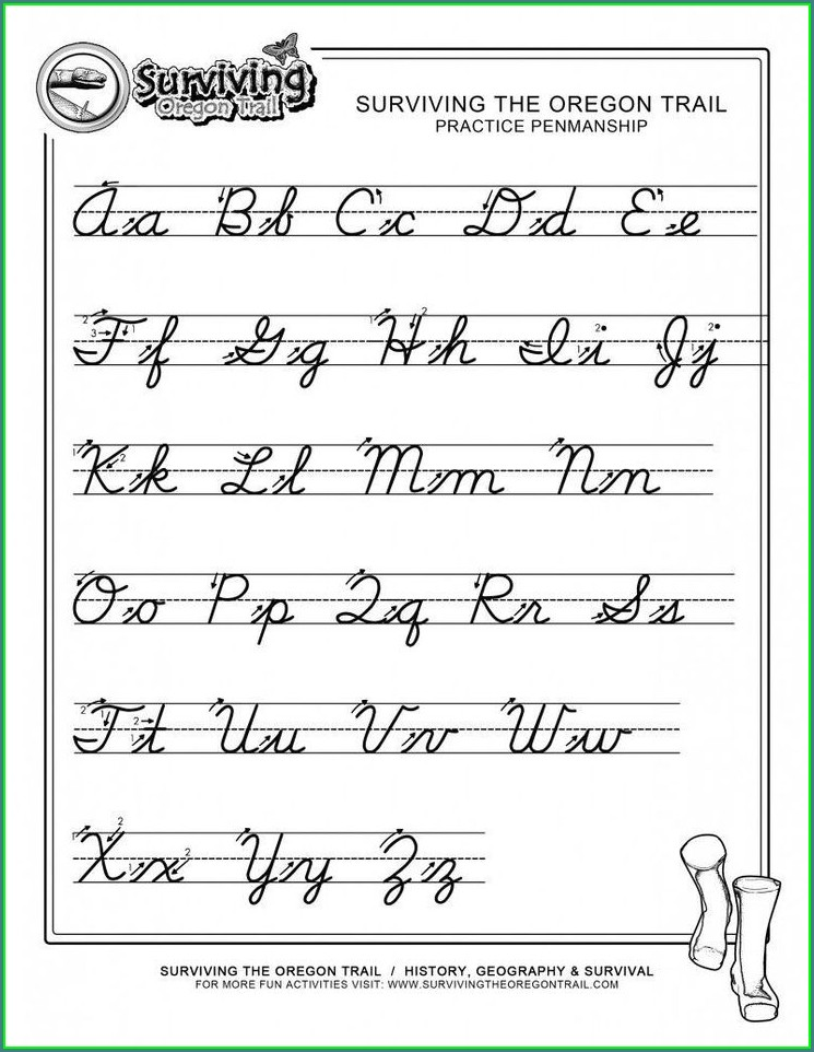 Alphabet Cursive Writing Worksheet