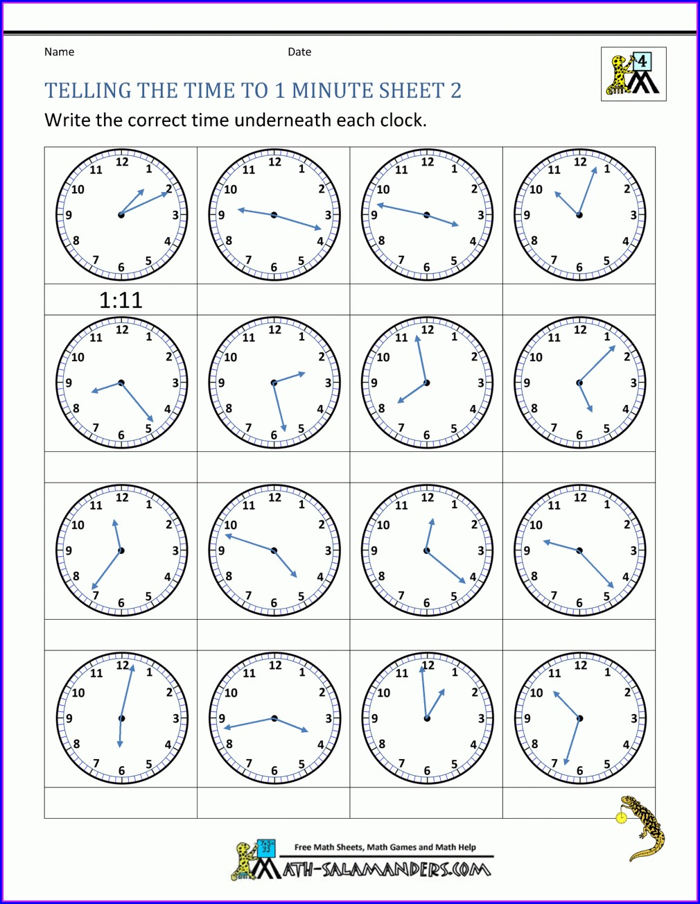 Analog And Digital Time Worksheets
