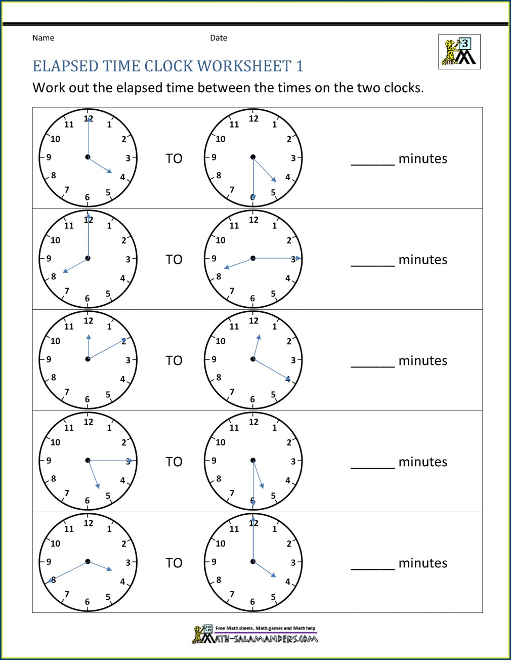 Analog Time Worksheets Grade 4