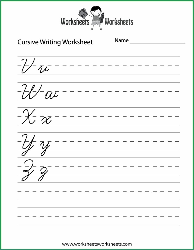 Beginner 2nd Grade Cursive Writing Worksheets
