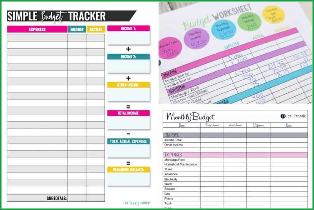 Beginner Printable Budget Worksheet Dave Ramsey