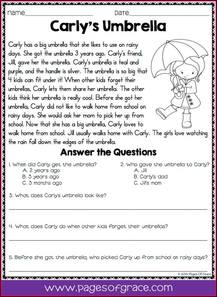 Black History Month 2015 Reading Comprehension Worksheets