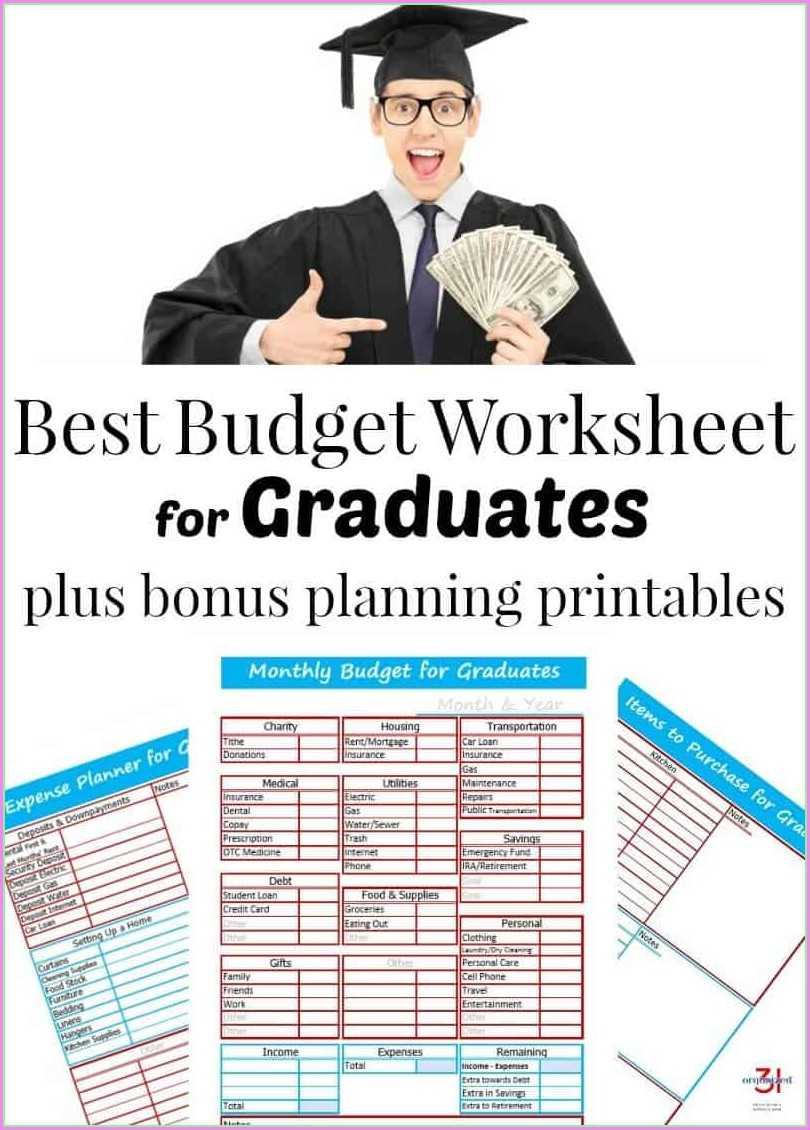 Budget Worksheet For Graduate Students