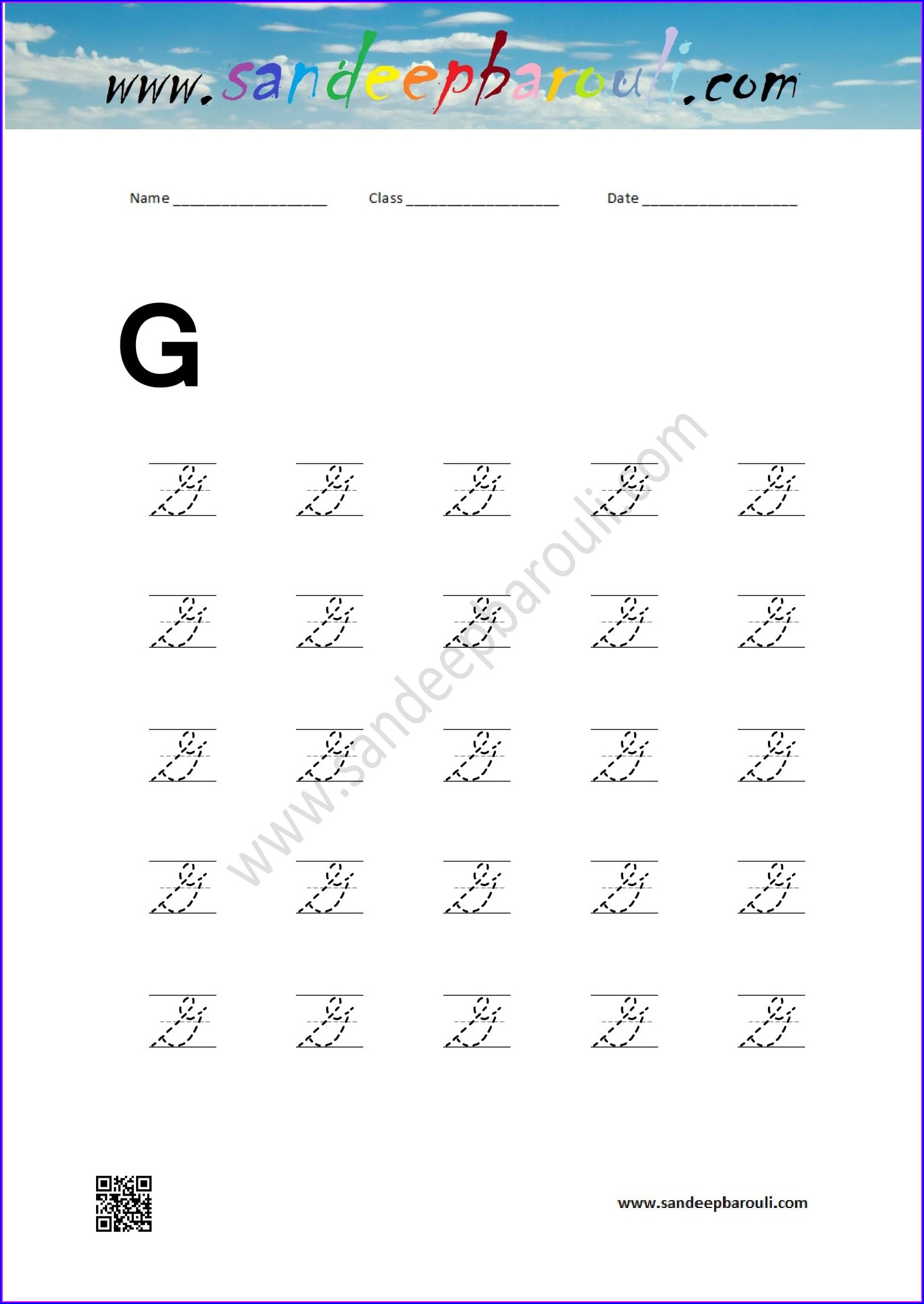 Capital Cursive Writing Worksheets