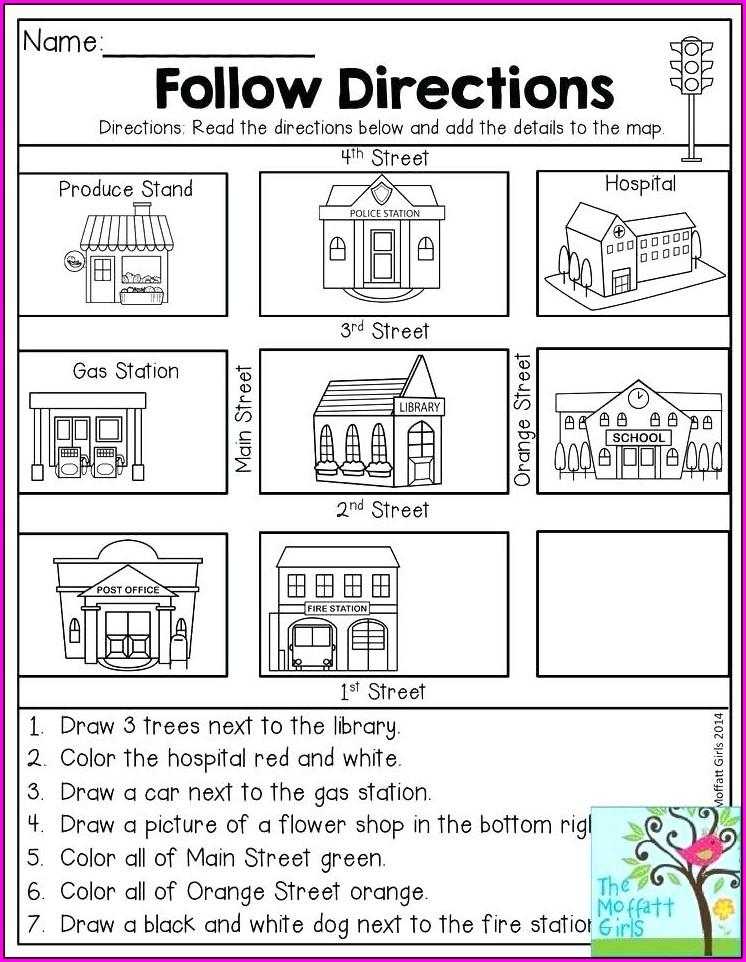 Cardinal Directions Worksheet 2nd Grade