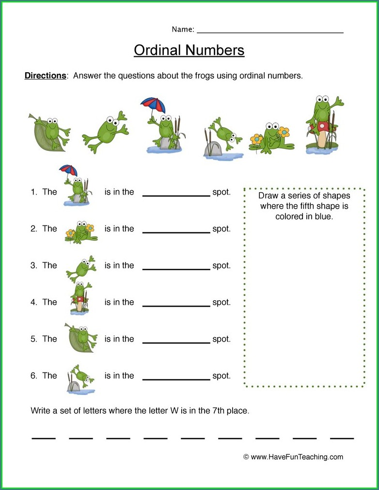 Cardinal Numbers Worksheet Grade 2