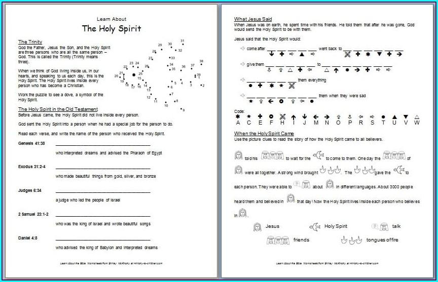 Catholic First Grade Religion Worksheets