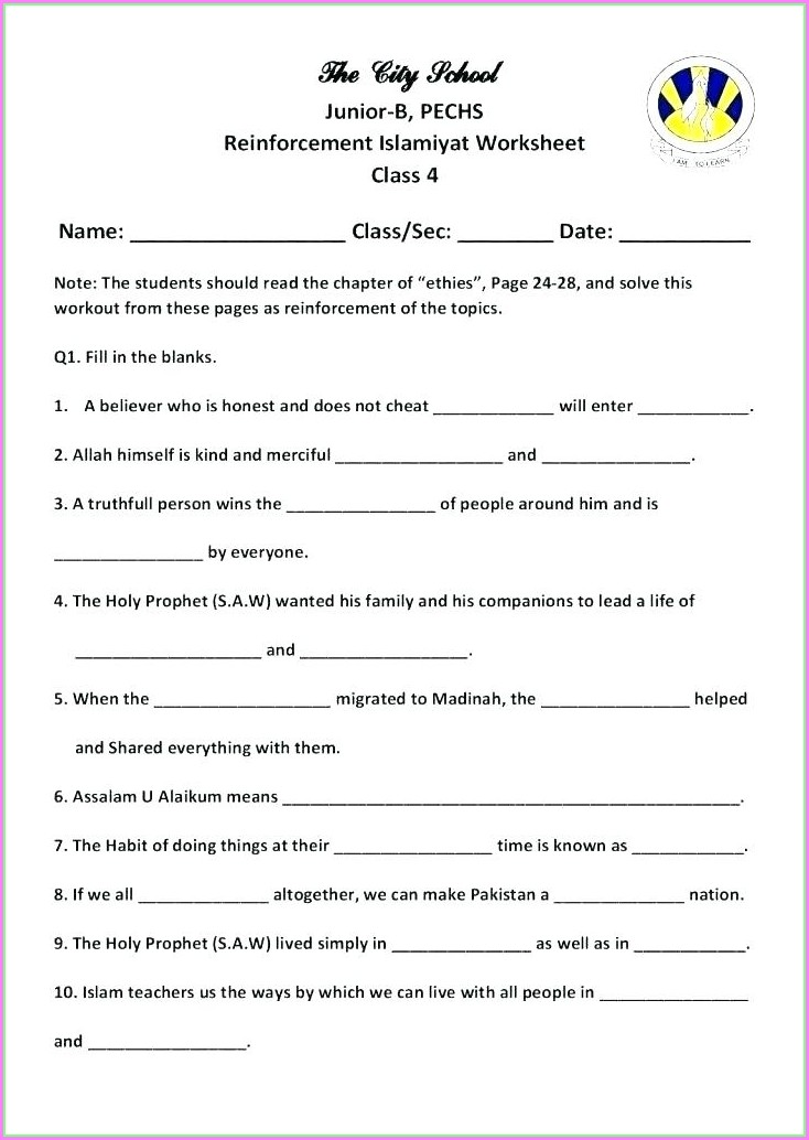 Cbse 5th Grade Science Worksheets