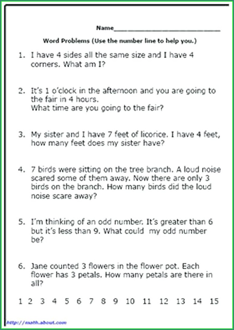 Challenging Math Word Problems Worksheets