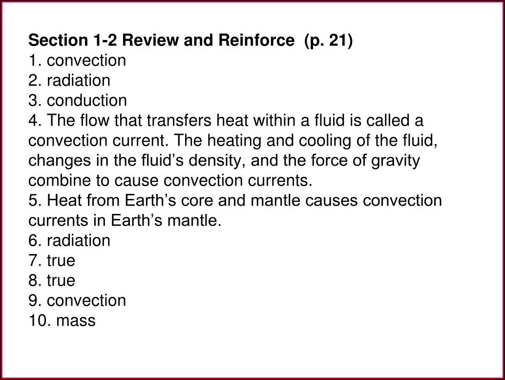 Chapter Review Plate Tectonics Worksheet