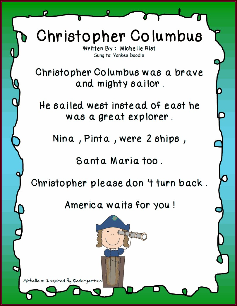Christopher Columbus Lessons For Kindergarten