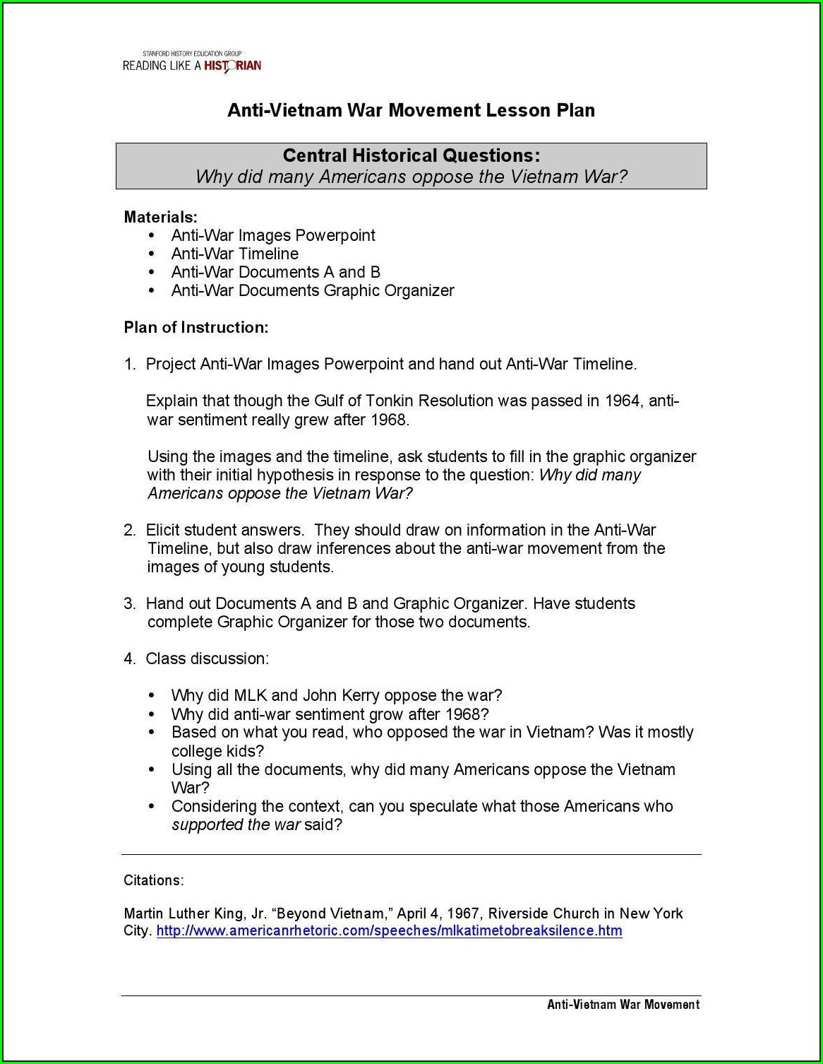 Civil Rights Timeline Worksheet