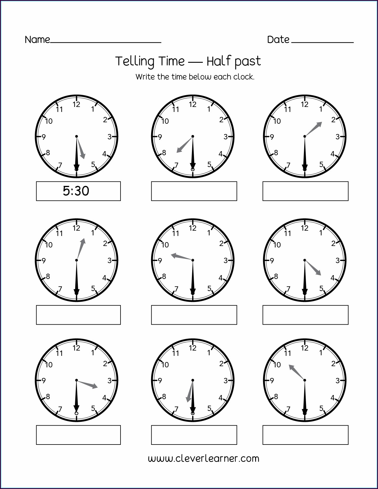 Clock Worksheets Telling Time To The Minute