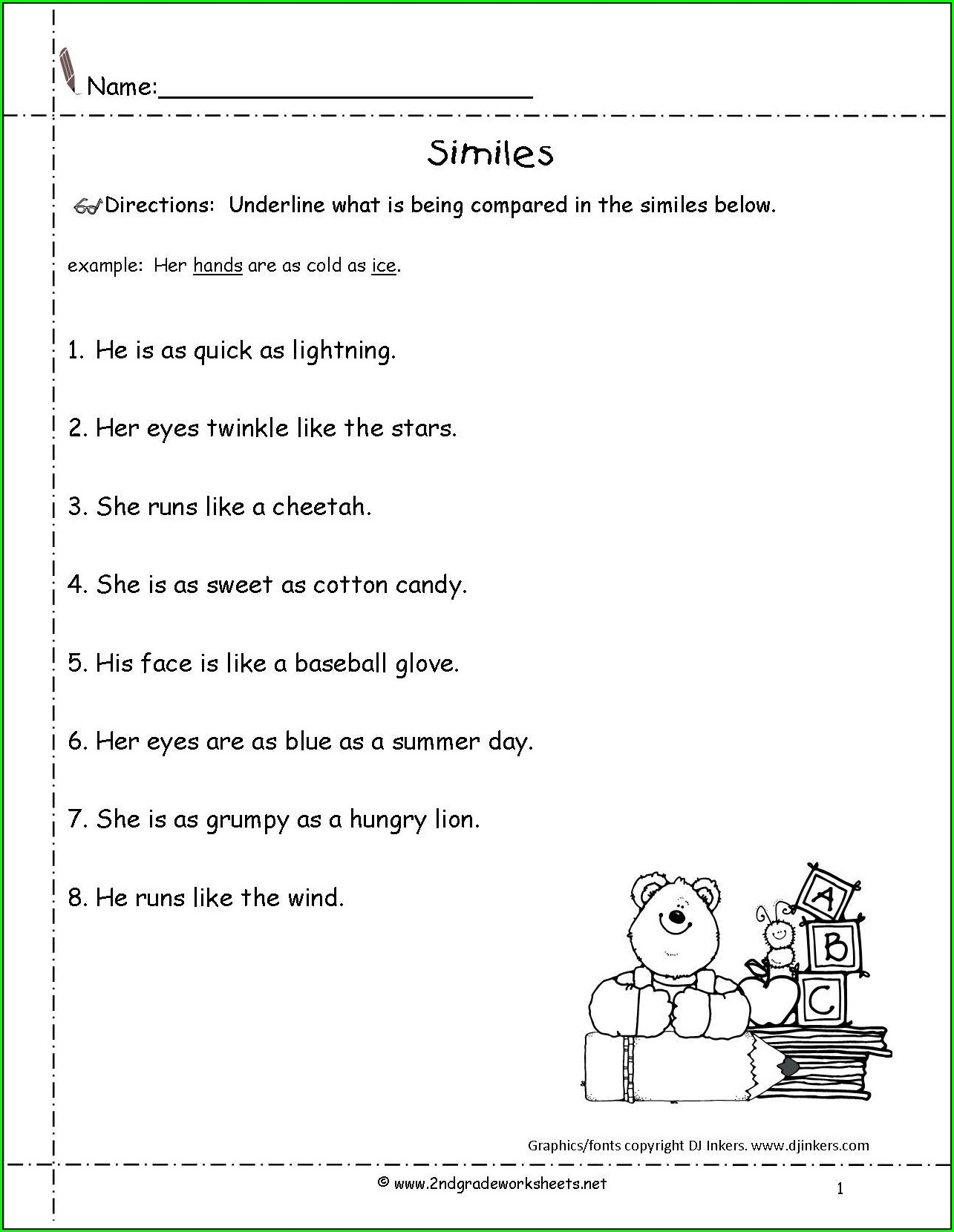Commas Worksheet Grade 3