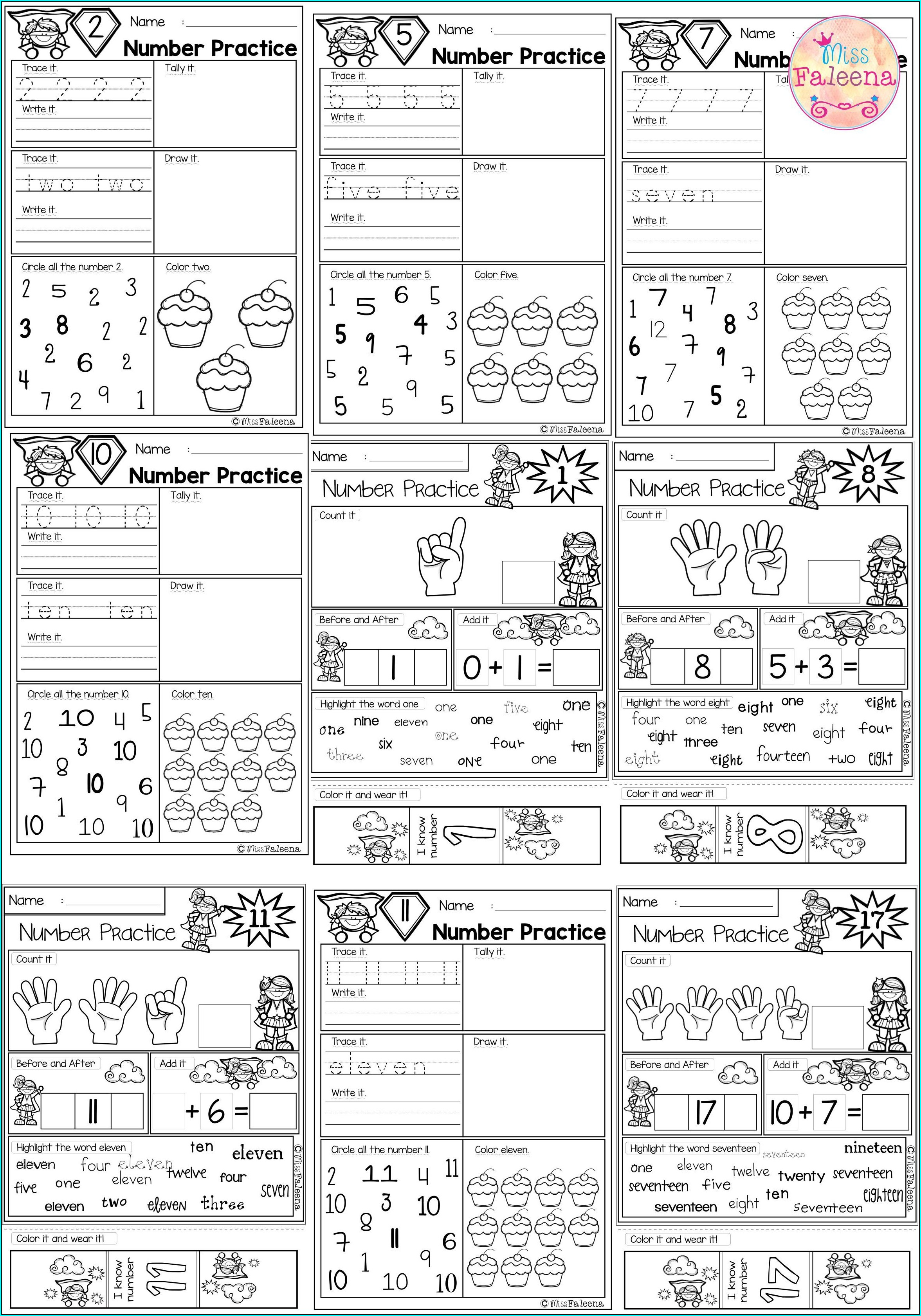 Comparing Numbers 1 10 Worksheets Kindergarten