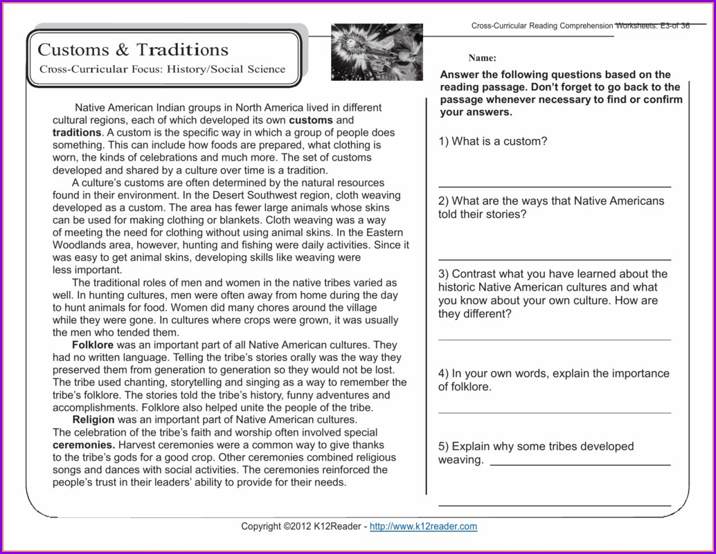 Comprehension Grade 5 English Worksheets South Africa