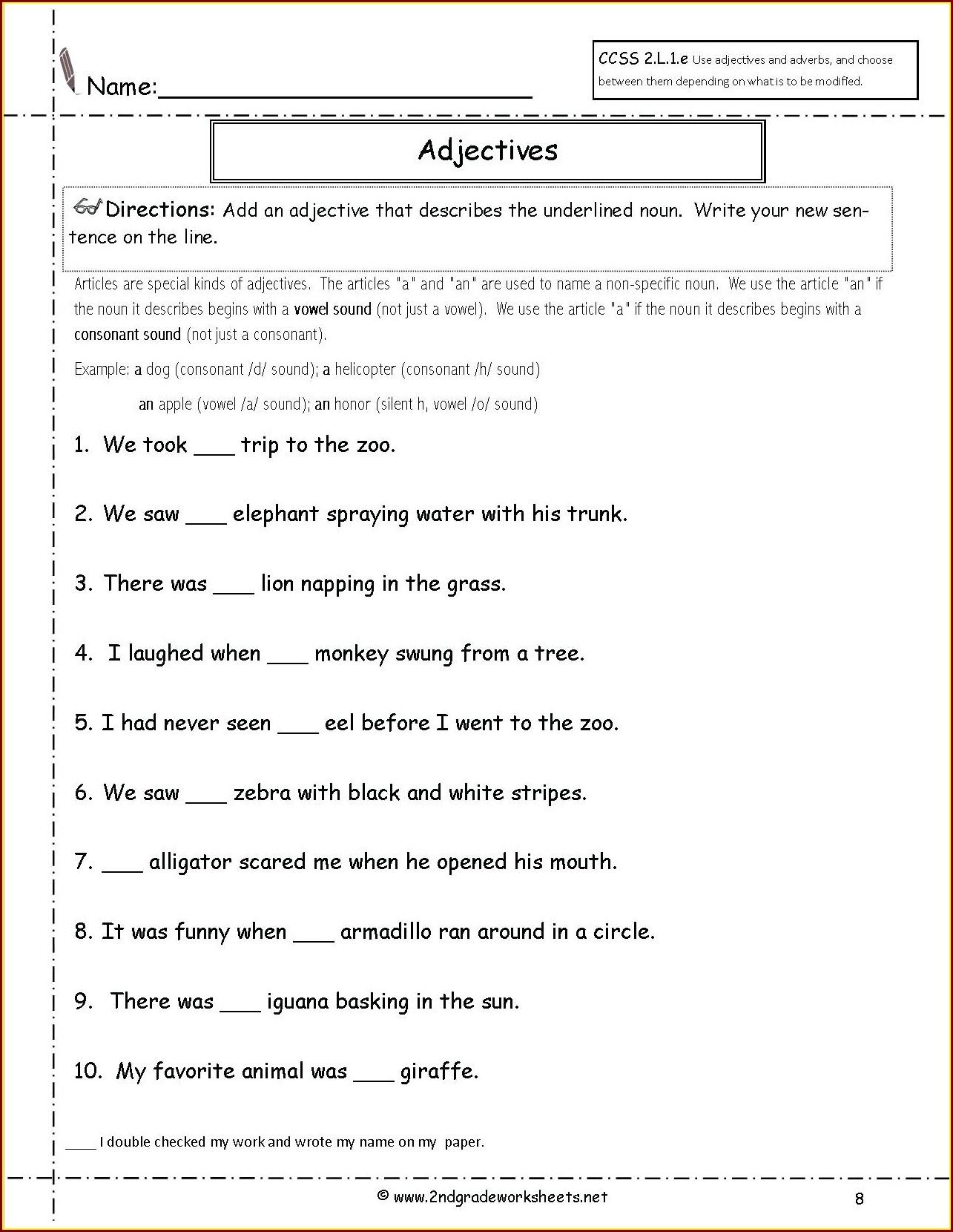 Comprehension Passage Worksheet For Grade 2