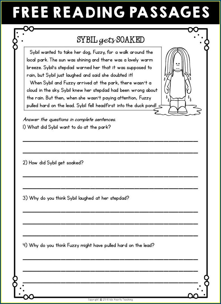Comprehension Passages And Answers
