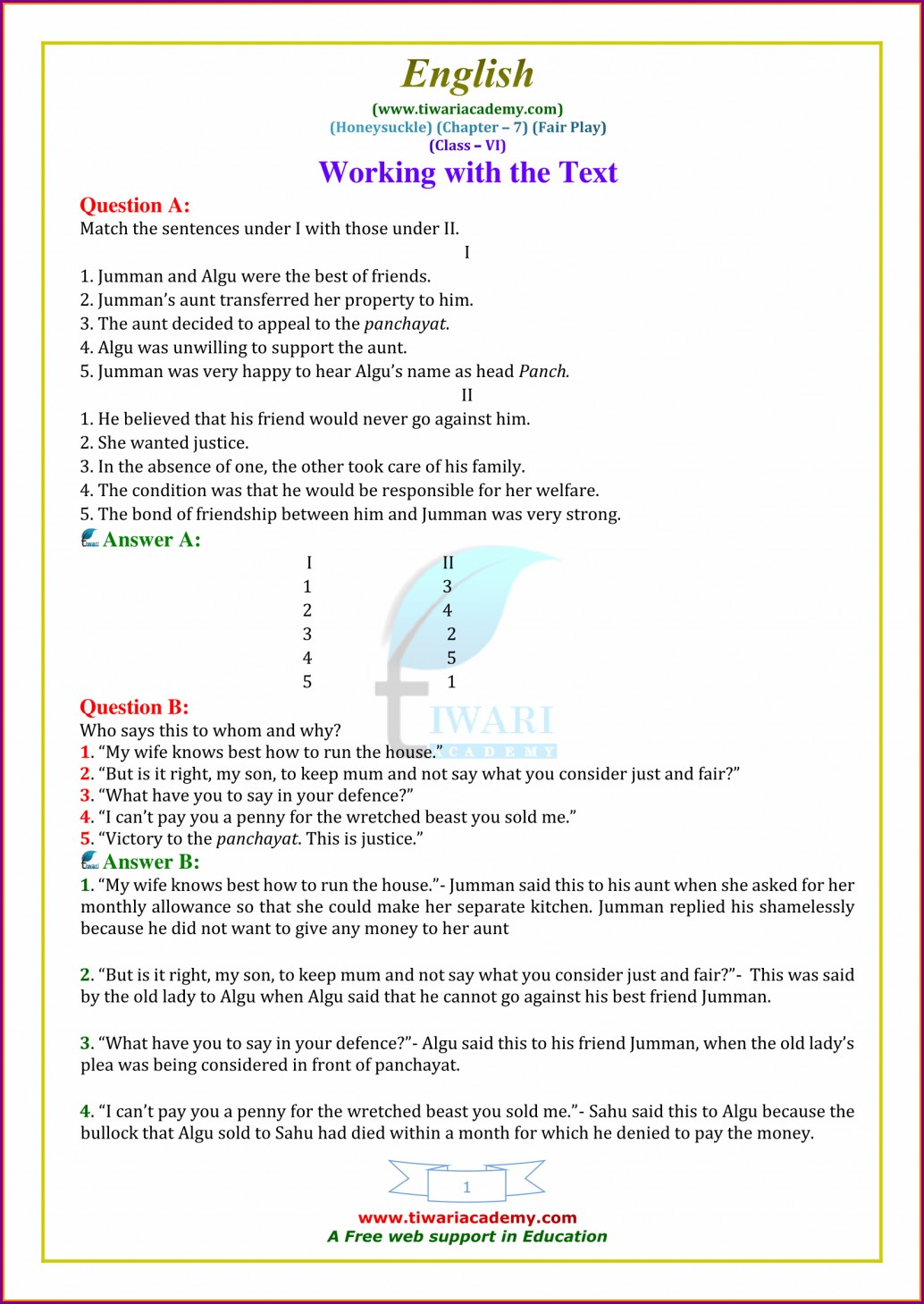 Comprehension Worksheets For Grade 3 With Questions