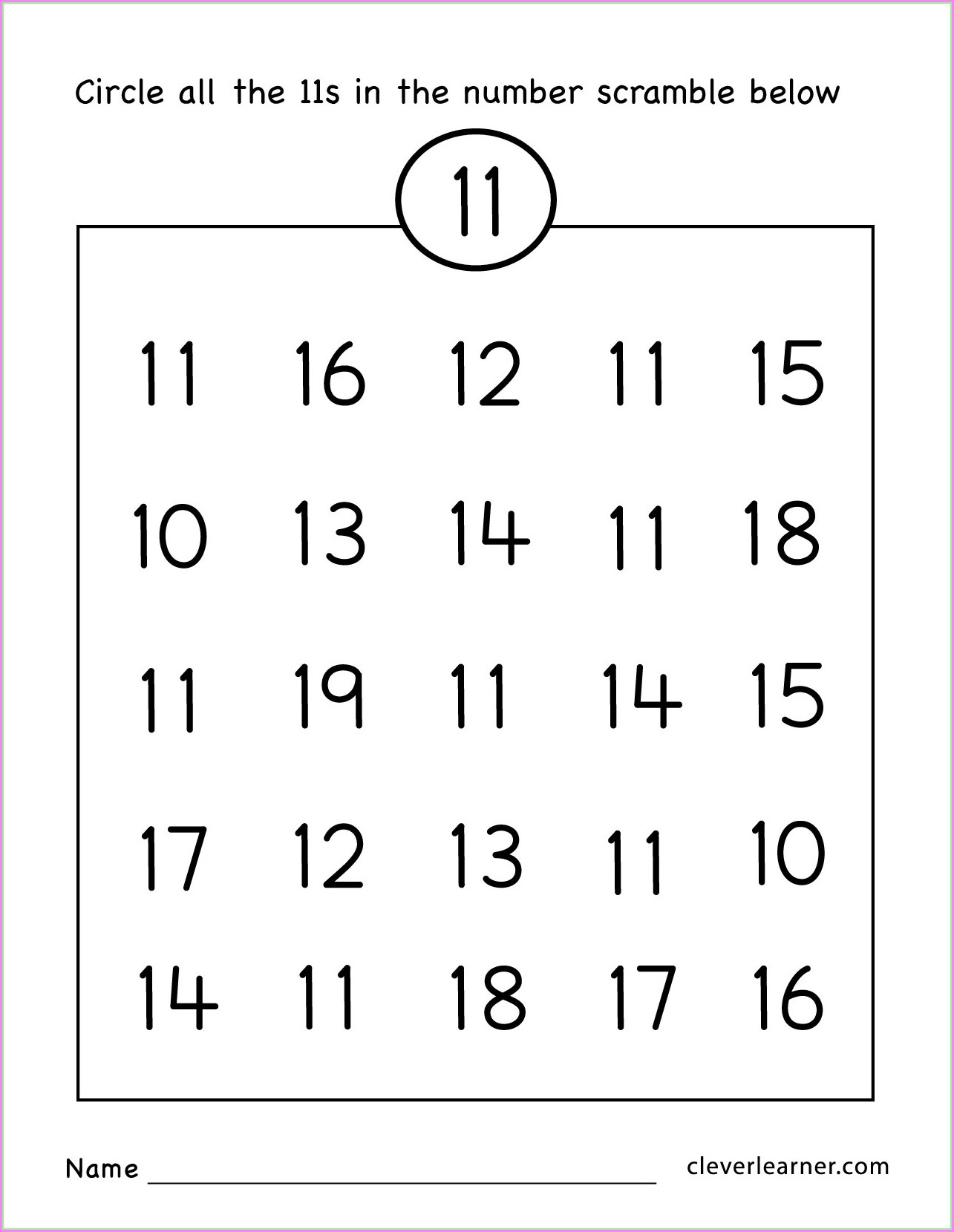 Counting Number 11 And 12 Worksheets