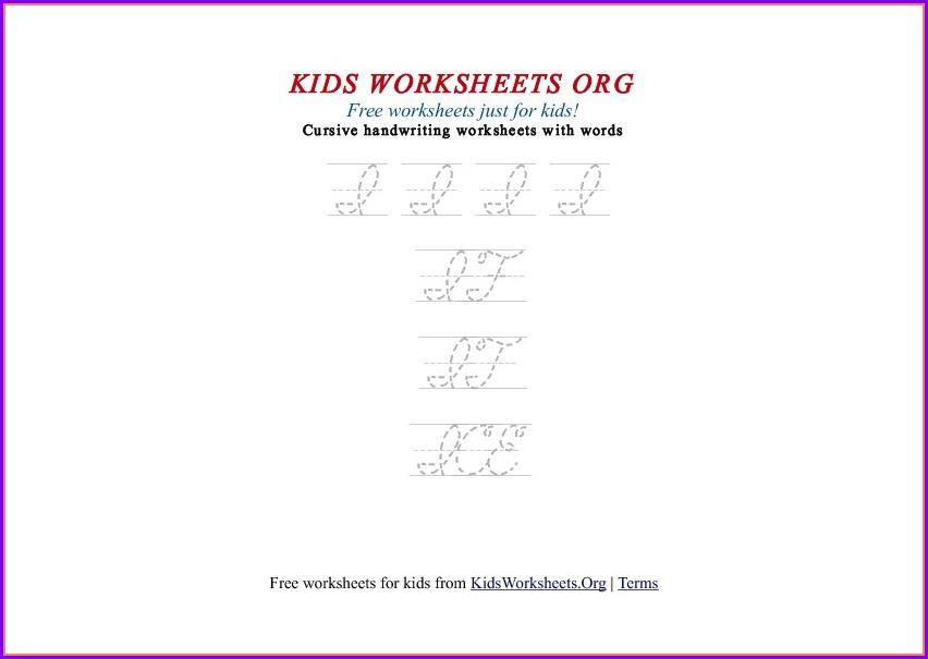 Cursive Letter I Worksheet