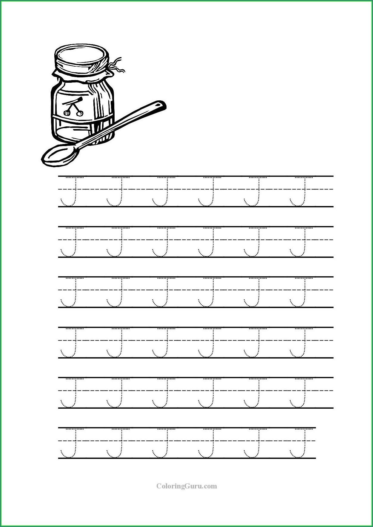Cursive Letter J Worksheet
