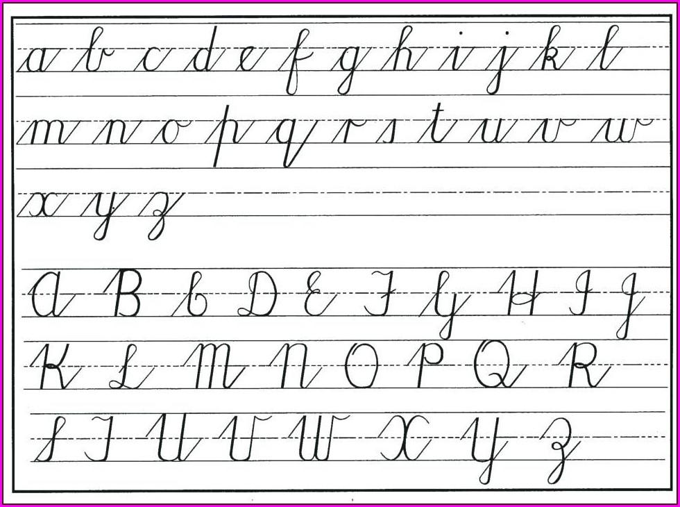 Cursive Writing Numbers Worksheets Pdf