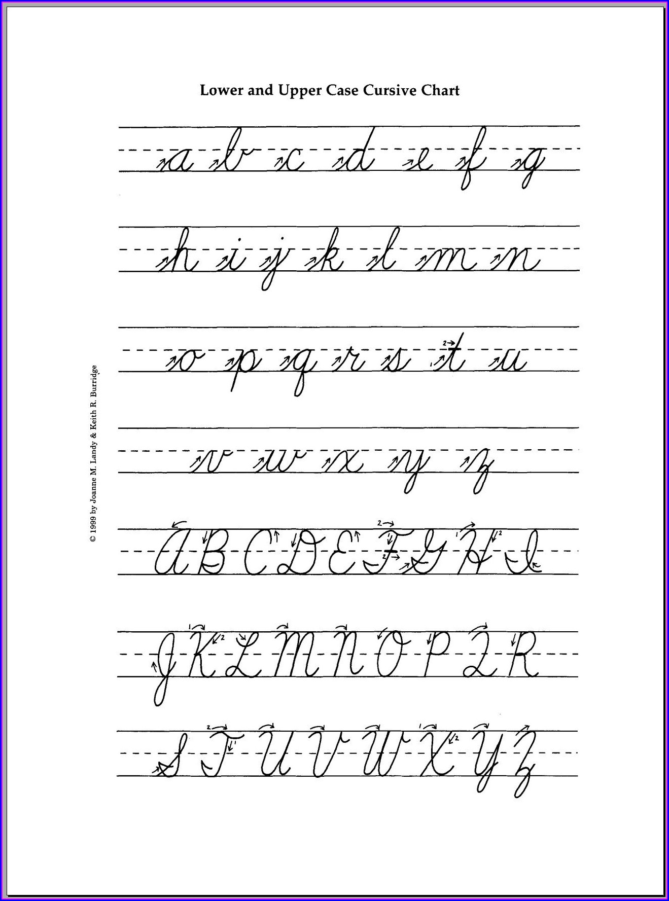 Cursive Writing Worksheets Capital Letters