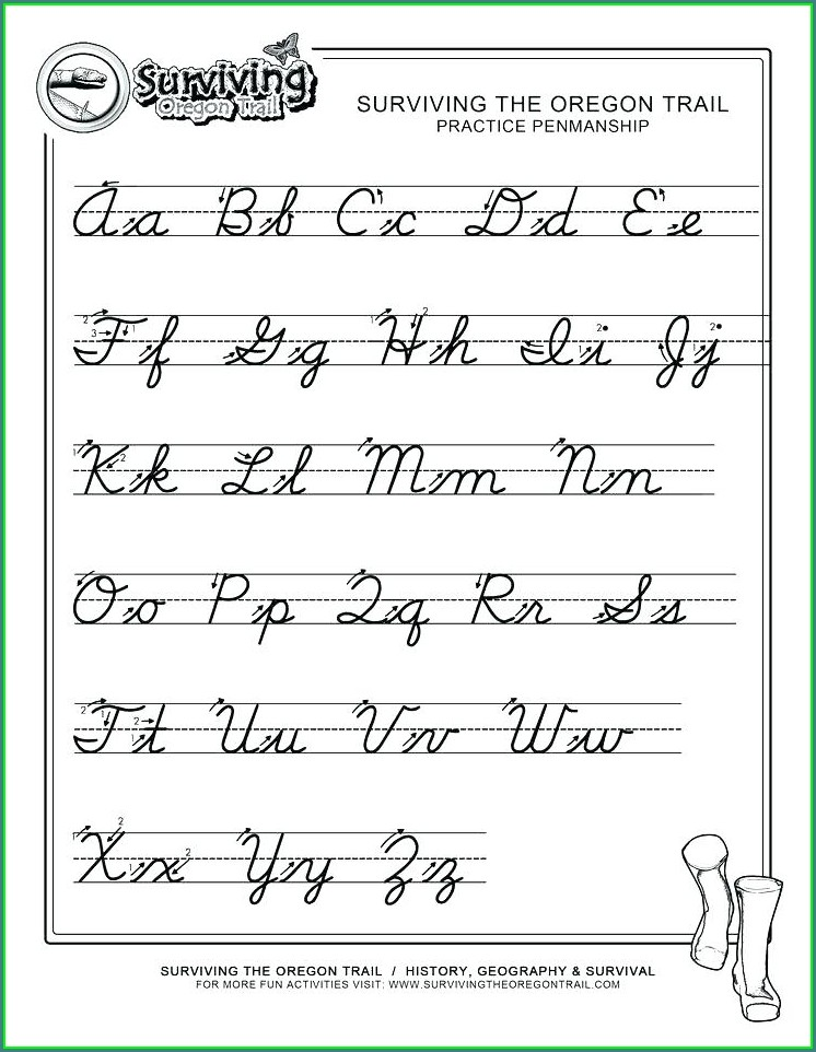 Cursive Writing Worksheets For Third Grade