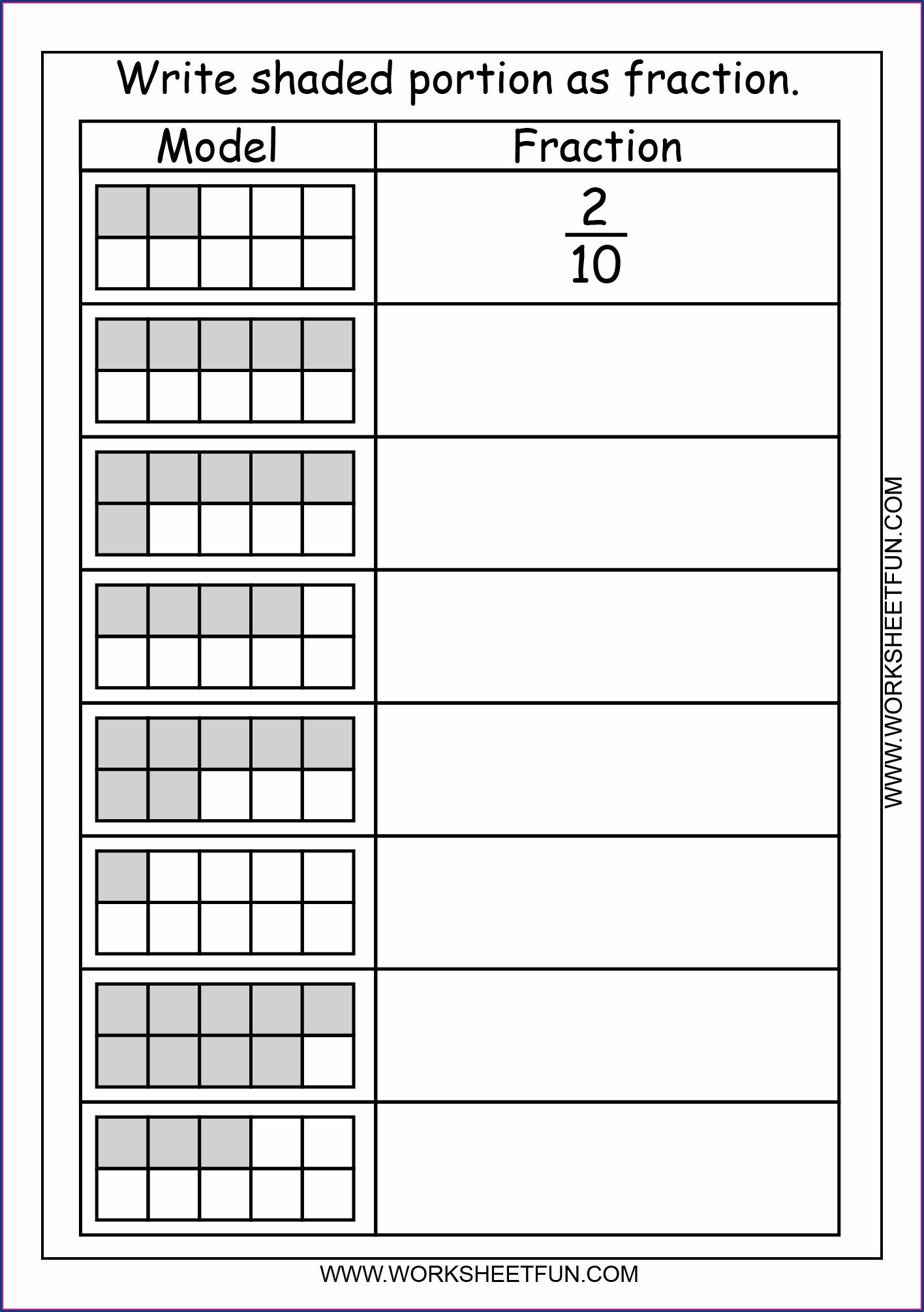 Decimal Number Bonds To 1 Worksheet