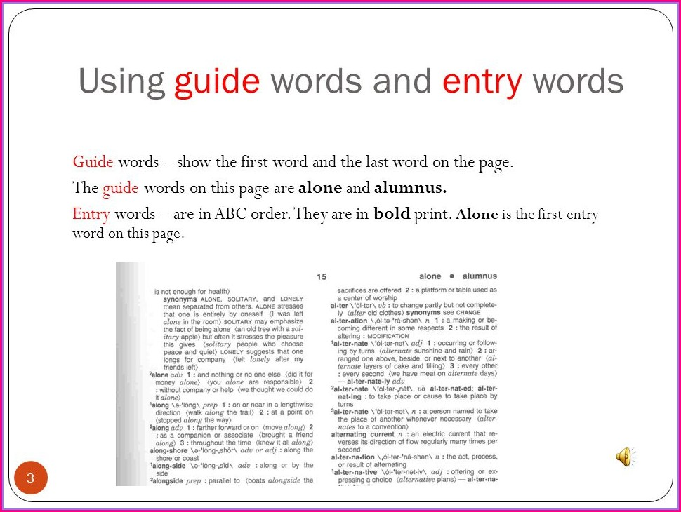Dictionary Guide Words Worksheet Answers