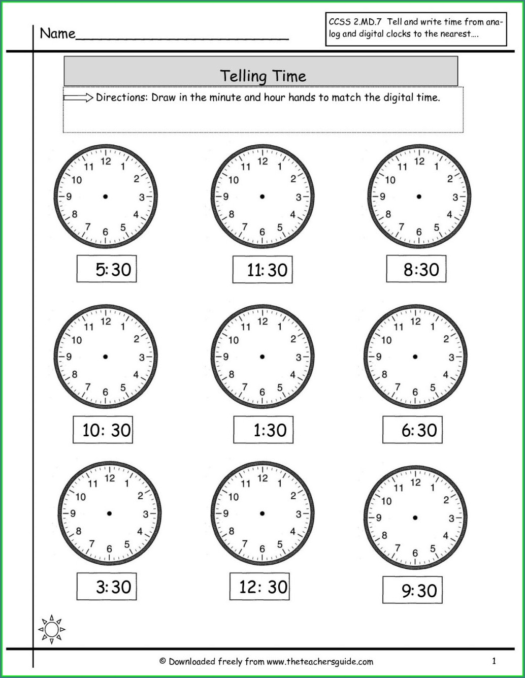 Digital Time Worksheets Tes
