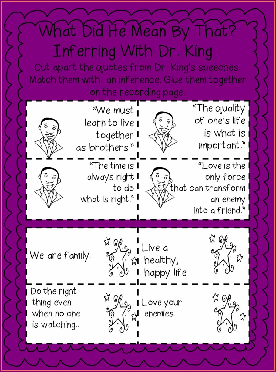 Dr Martin Luther King Jr Elementary Lessons