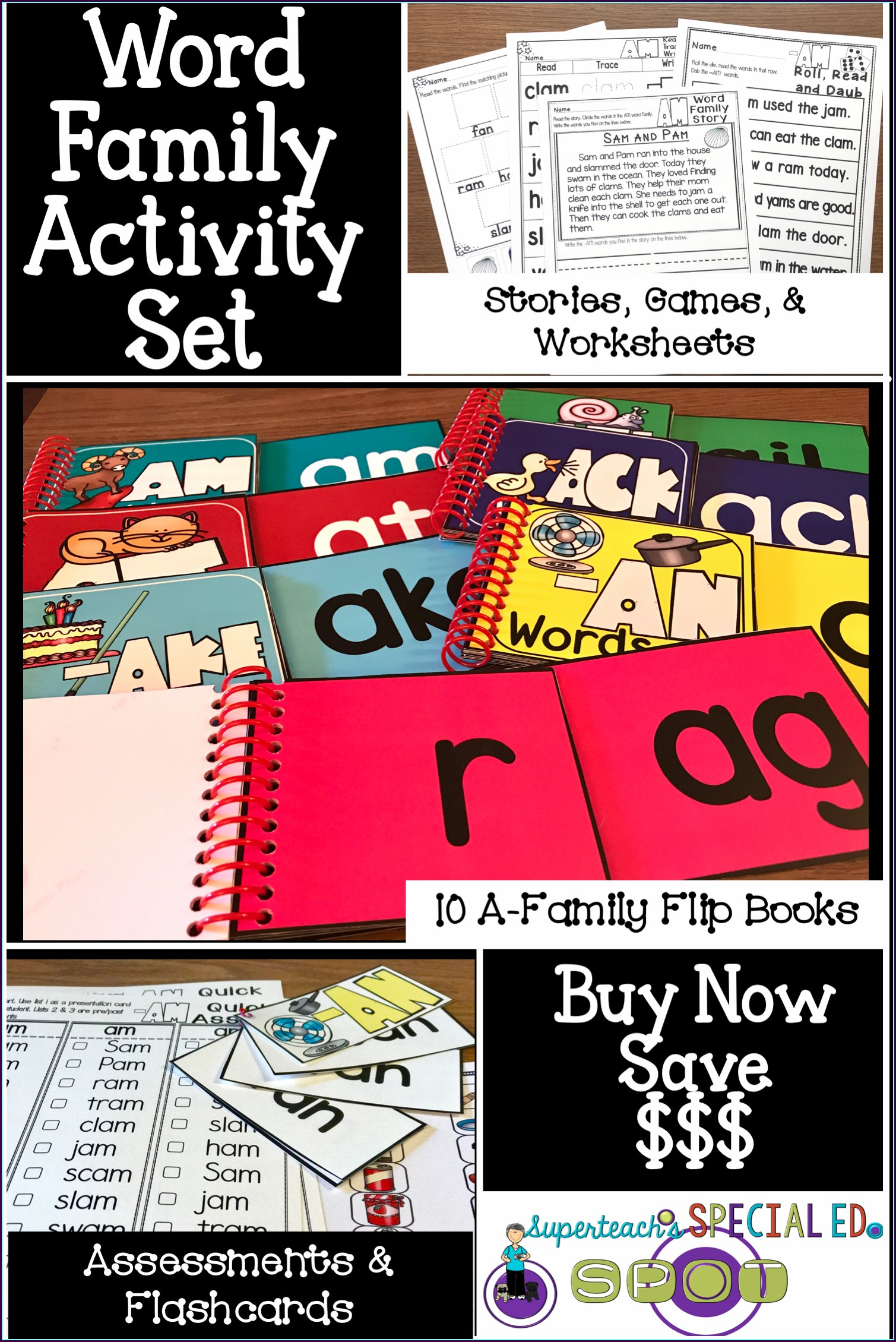 Ed Word Family Worksheets For Kindergarten