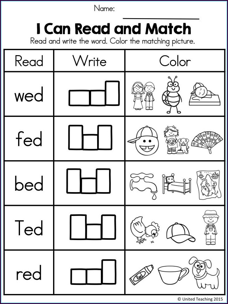 Ed Word Family Worksheets Pdf