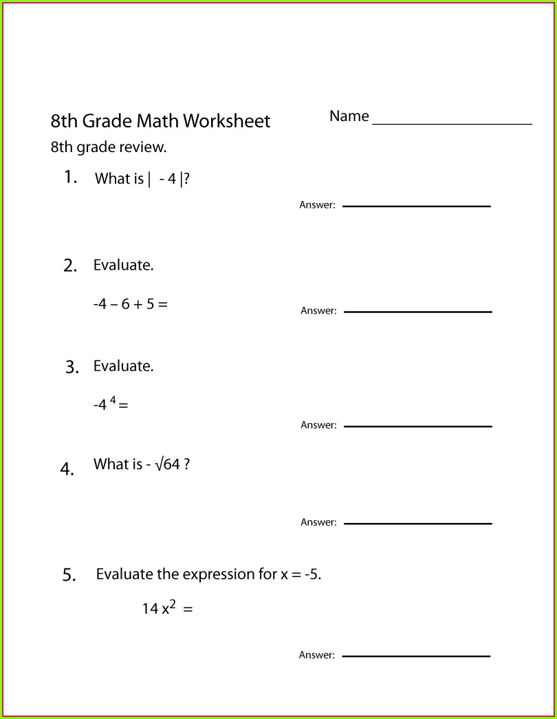 Eighth Grade Grade 8 English Worksheets Pdf