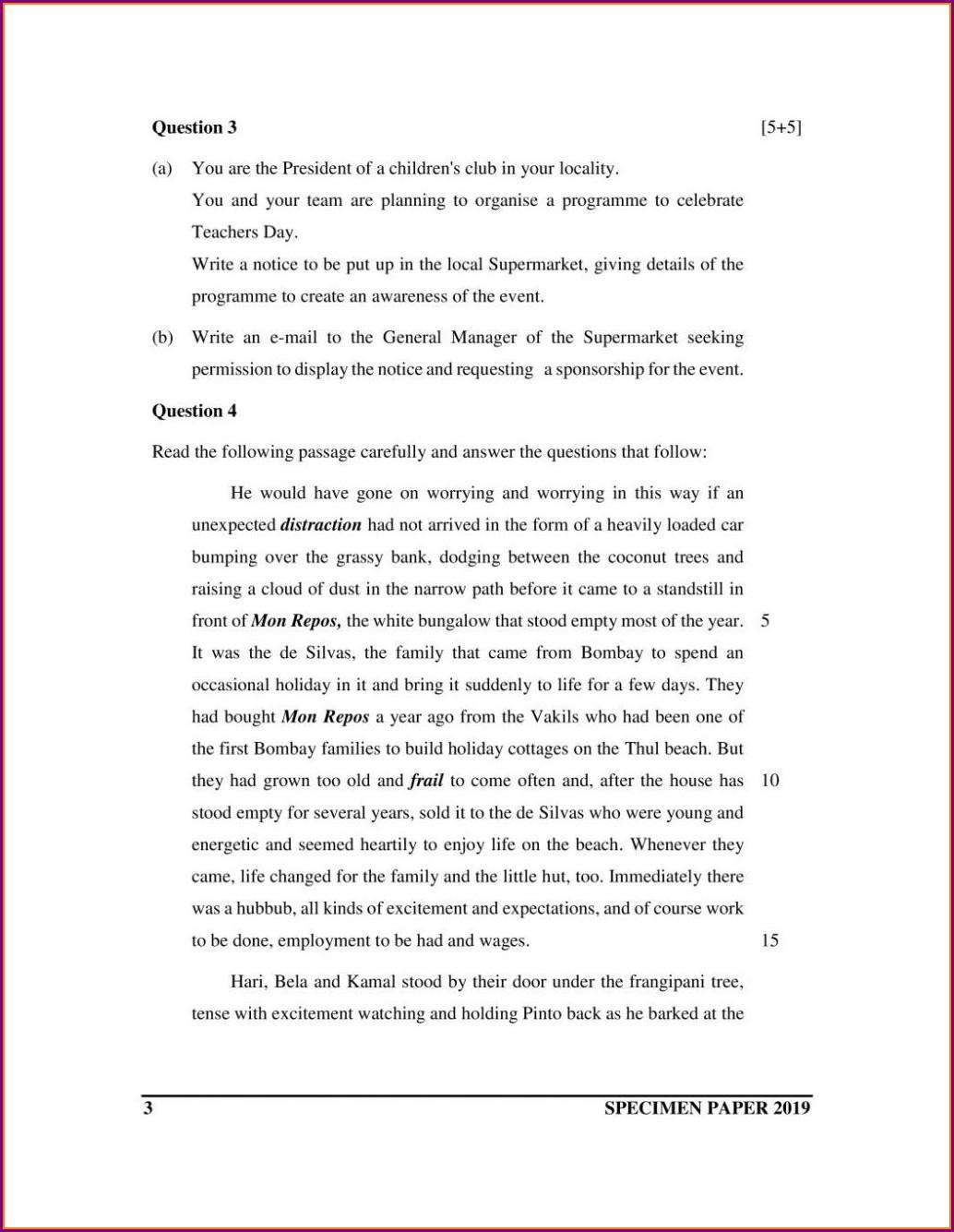 English Comprehension Worksheets For Grade 7