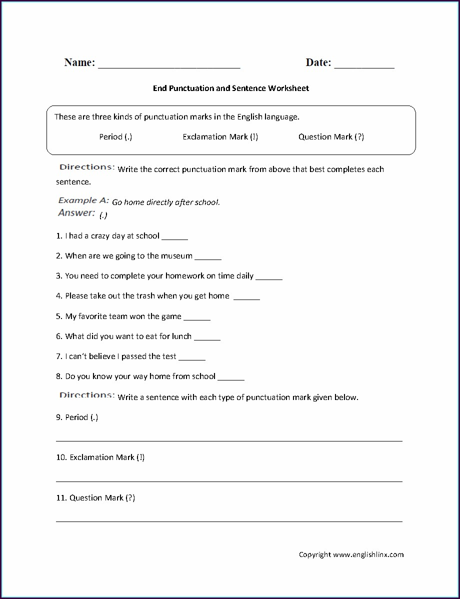 English First Additional Language Grade 6 Worksheets